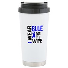 I Wear Blue Wife Ceramic Travel Mug