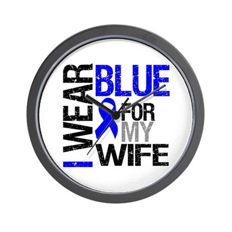I Wear Blue Wife Wall Clock
