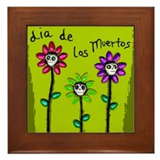 Day of the Dead (green) Framed Art Tile