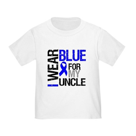 I Wear Blue Uncle Toddler T-Shirt