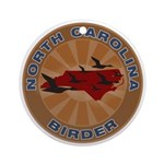 North Carolina Birder Ornament (Round)