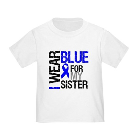 I Wear Blue Sister Toddler T-Shirt