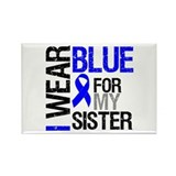 I Wear Blue Sister Rectangle Magnet
