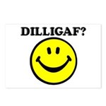 DILLIGAF Smiley Face Postcards (Package of 8)