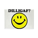 DILLIGAF Smiley Face Rectangle Magnet