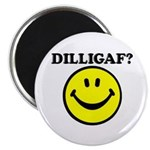 DILLIGAF Smiley Face Magnet