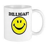 DILLIGAF Smiley Face Mug
