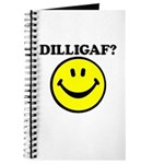 DILLIGAF Smiley Face Journal