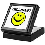 DILLIGAF Smiley Face Keepsake Box