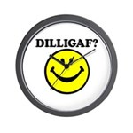 DILLIGAF Smiley Face Wall Clock