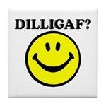 DILLIGAF Smiley Face Tile Coaster