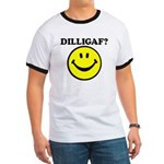DILLIGAF Smiley Face Ringer T