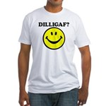 DILLIGAF Smiley Face Fitted T-Shirt