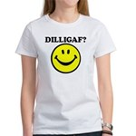 DILLIGAF Smiley Face Women's T-Shirt