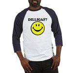 DILLIGAF Smiley Face Baseball Jersey