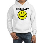 DILLIGAF Smiley Face Hooded Sweatshirt