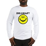 DILLIGAF Smiley Face Long Sleeve T-Shirt
