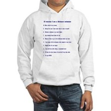 Top ten reasons distance swim Hoodie