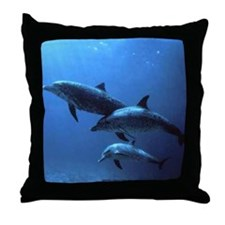 3 DOLFINS Throw Pillow