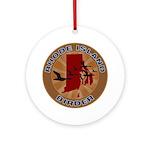 Rhode Island Birder Ornament (Round)