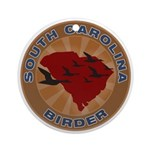 South Carolina Birder Ornament (Round)