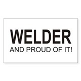 The Proud Welder Rectangle Sticker 50 pk)