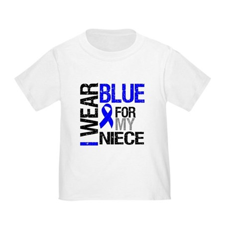I Wear Blue Niece Toddler T-Shirt