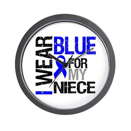 I Wear Blue Niece Wall Clock