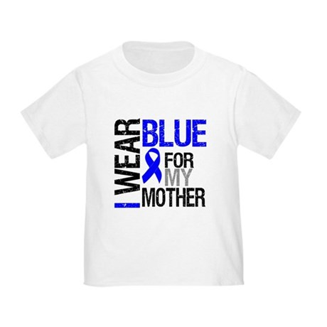 I Wear Blue Mother Toddler T-Shirt