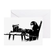 Typing chimpanze Greeting Cards (Pk of 20)