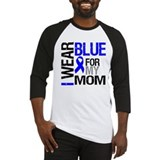 I Wear Blue Mom Baseball Jersey