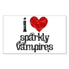 I love Sparkly Vampires Rectangle Sticker 10 pk)
