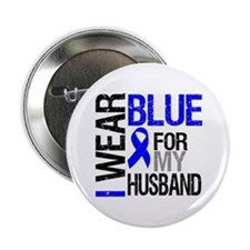 "I Wear Blue Husband 2.25"" Button"