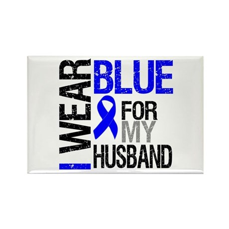 I Wear Blue Husband Rectangle Magnet