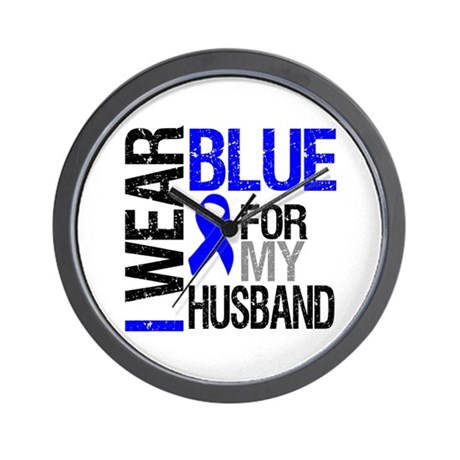 I Wear Blue Husband Wall Clock
