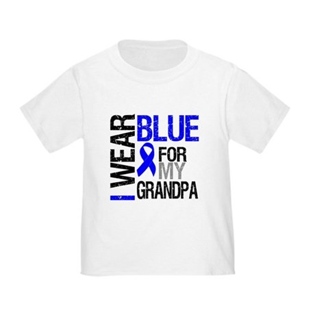 I Wear Blue Grandpa Toddler T-Shirt