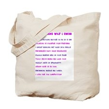 Ten reasons I swim - Female Tote Bag