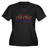 Joy DaBang Women's Plus Size V-Neck Dark T-Shirt