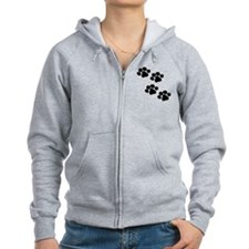 Pet Paw Prints Zip Hoody