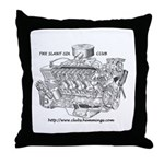 Slant-Six Club Throw Pillow