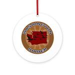 Washington Birder Ornament (Round)