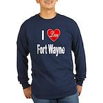 I Love Fort Wayne (Front) Long Sleeve Dark T-Shirt