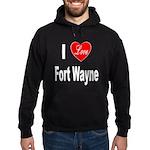 I Love Fort Wayne (Front) Hoodie (dark)