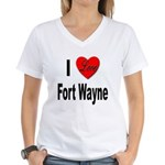 I Love Fort Wayne (Front) Women's V-Neck T-Shirt
