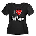 I Love Fort Wayne (Front) Women's Plus Size Scoop