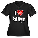 I Love Fort Wayne (Front) Women's Plus Size V-Neck