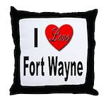 I Love Fort Wayne Throw Pillow