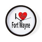 I Love Fort Wayne Wall Clock