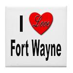 I Love Fort Wayne Tile Coaster