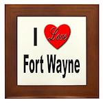 I Love Fort Wayne Framed Tile
